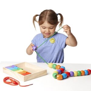 Wooden Lacing Beads For Fine Motor Skills - Learning Toys Pakistan