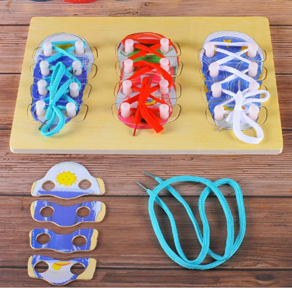 Tie Shoe Lacing - Learning Toys Pakistan